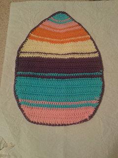 tovaglietta a forma di uovo