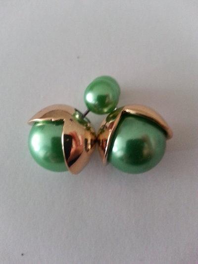 orecchini doppia perla