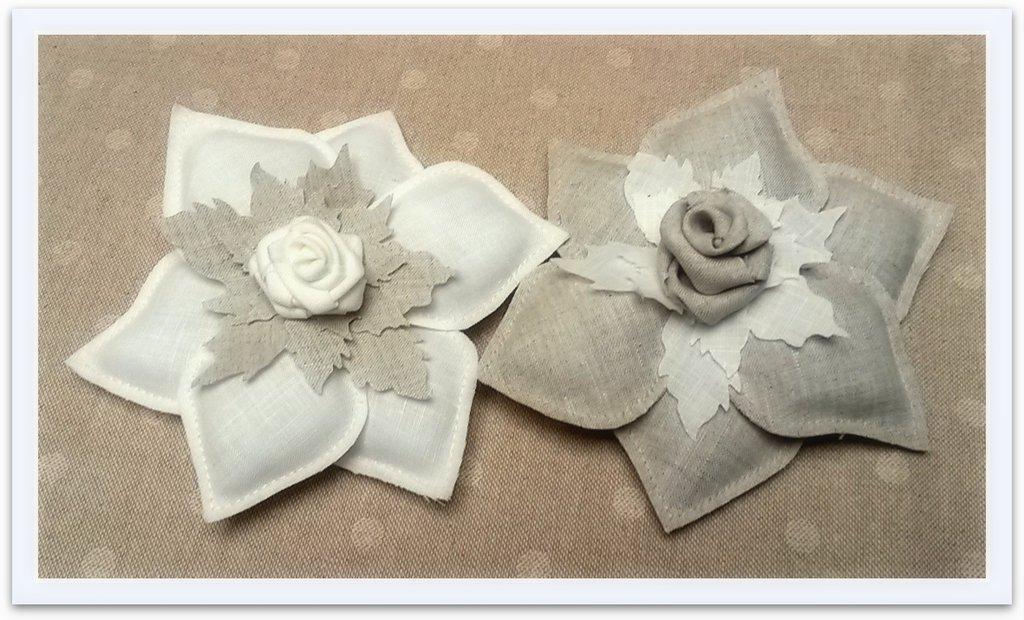 Bomboniera fiore in lino