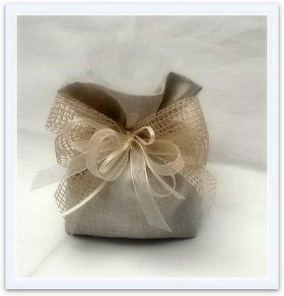 Bomboniera sacchetto in lino