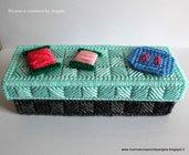 Scatola porta uncinetti e accessori cucito fatta a mano