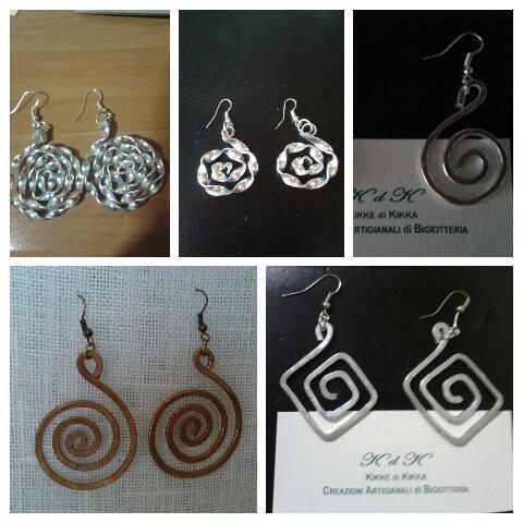 orecchini a spirale