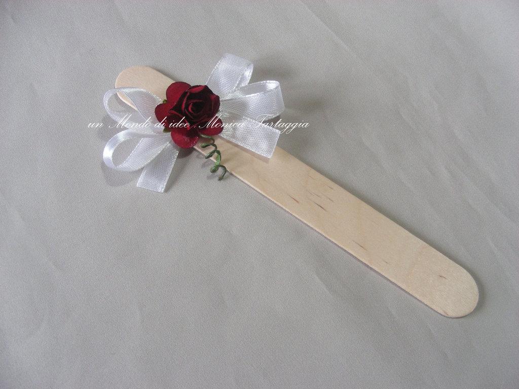 segnaposto Matrimonio con rosellina