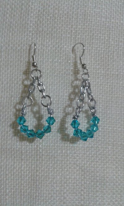 orecchini con cristalli