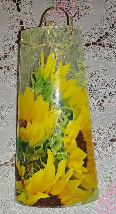 La tegola dei girasoli in vetro