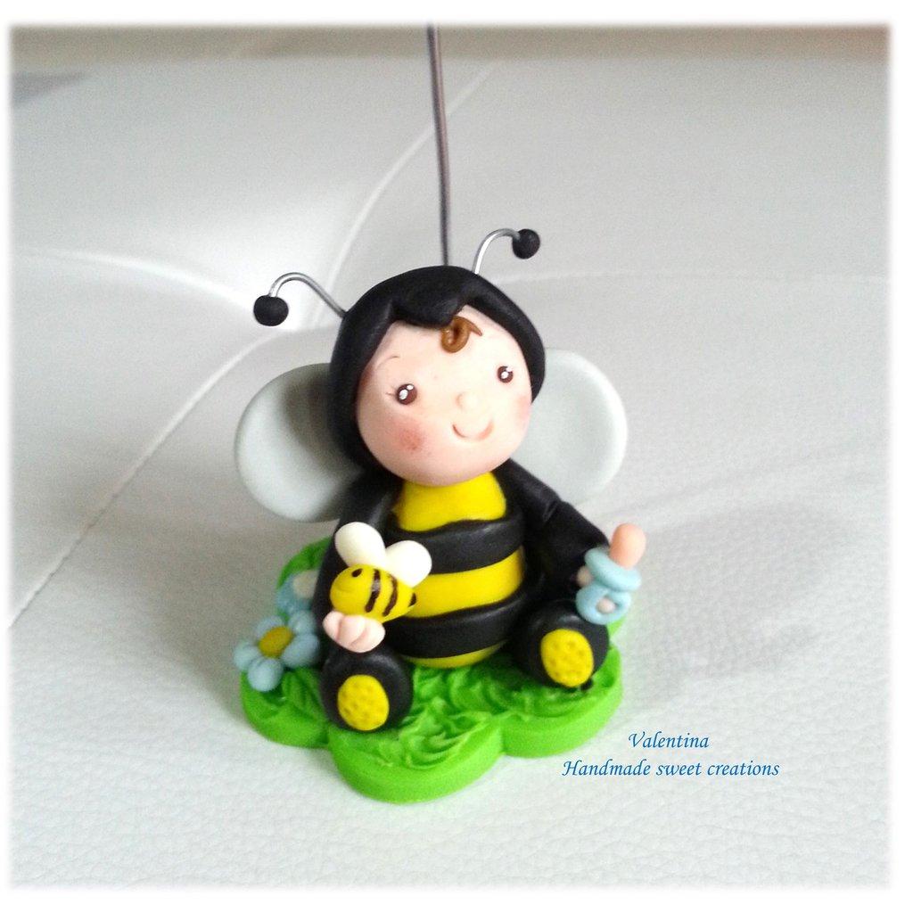 Bomboniera portafoto bimbo ape animale Battesimo