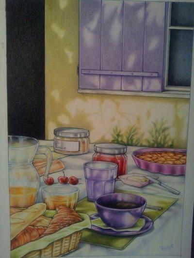 "Quadro ""La petit Déjeuner"""