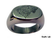 Anello Game of Thrones Stark Winter is Coming Wolf