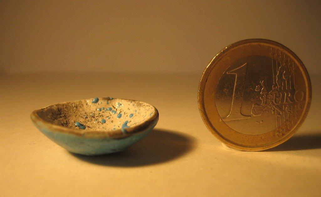 Ciotola in ceramica raku, diametro cm. 2,5