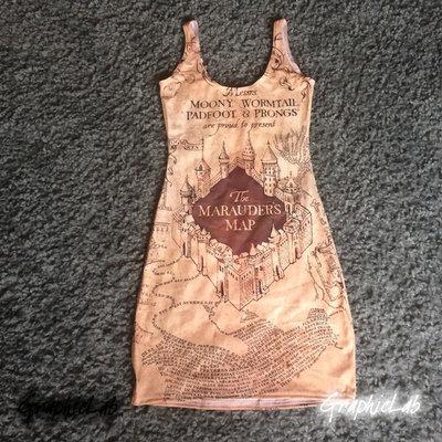 Vestito Mappa del Malandrino Marauders Map Harry Potter