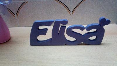 Nomi e scritte simpatiche in legno personalizzabili per for Scritte in legno nomi