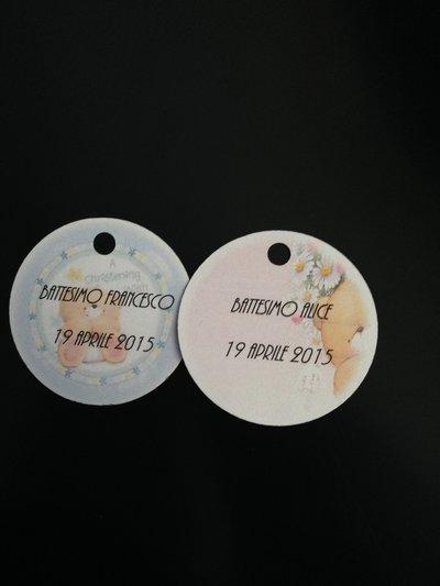 Biglietti per bomboniere Nascita/Battesimo