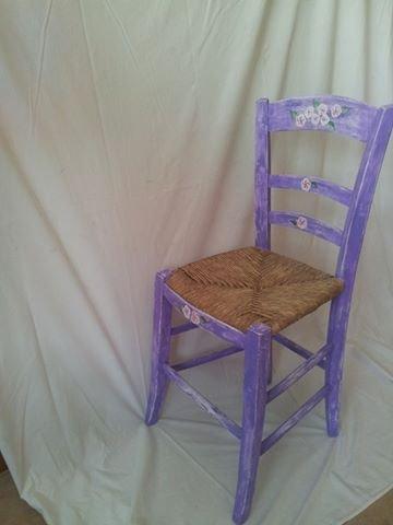 sedia fatta a mano