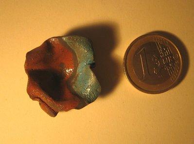Ciotola fantasia in ceramica raku, diametro cm. 3