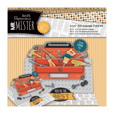 Decoupage Card Kit - Mr Mister