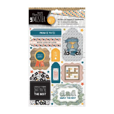 A5 Die-cut Toppers - Mr Mister