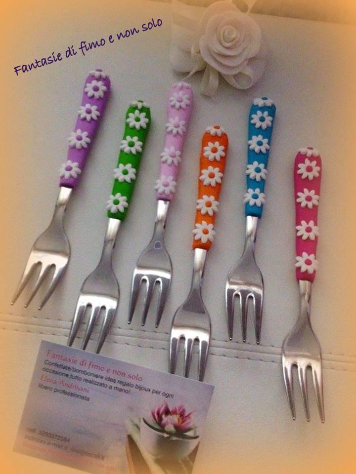 forchettine decorate in fimo
