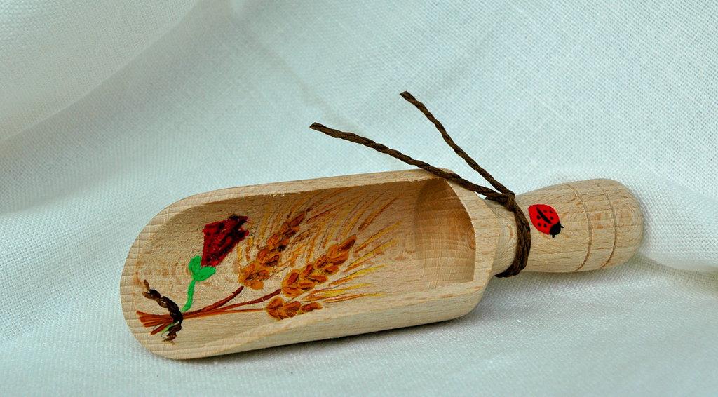 PALA FARINA in legno decorata a mano