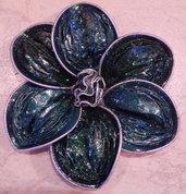 collana fiore bicolore con cialde