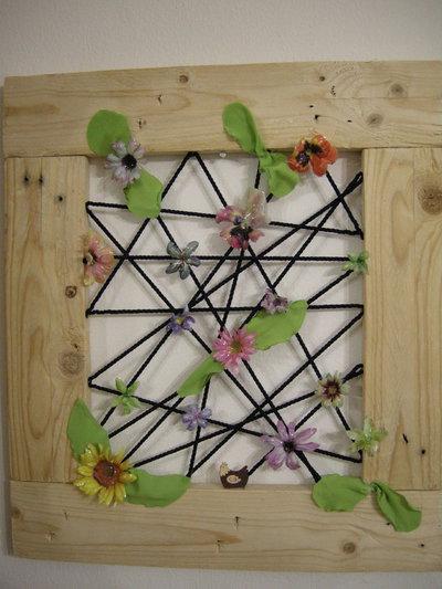 Quadro con fiori in sospeso trasparente