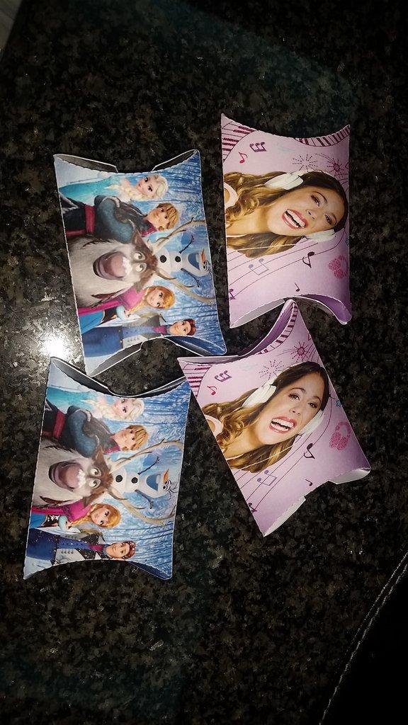 Scatoline portaconfetti violetta Frozen