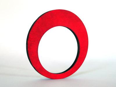 Riny, bracciale geometrico in legno versione cerchio personalizzabile in 6 colori