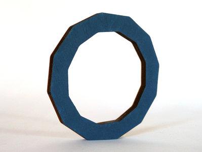 Riny, bracciale geometrico in legno versione dodecagono personalizzabile in 6 colori