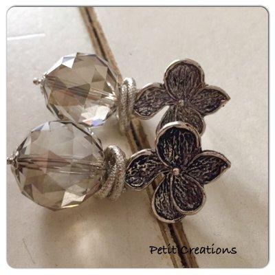 Swarovski e fiori d'argento