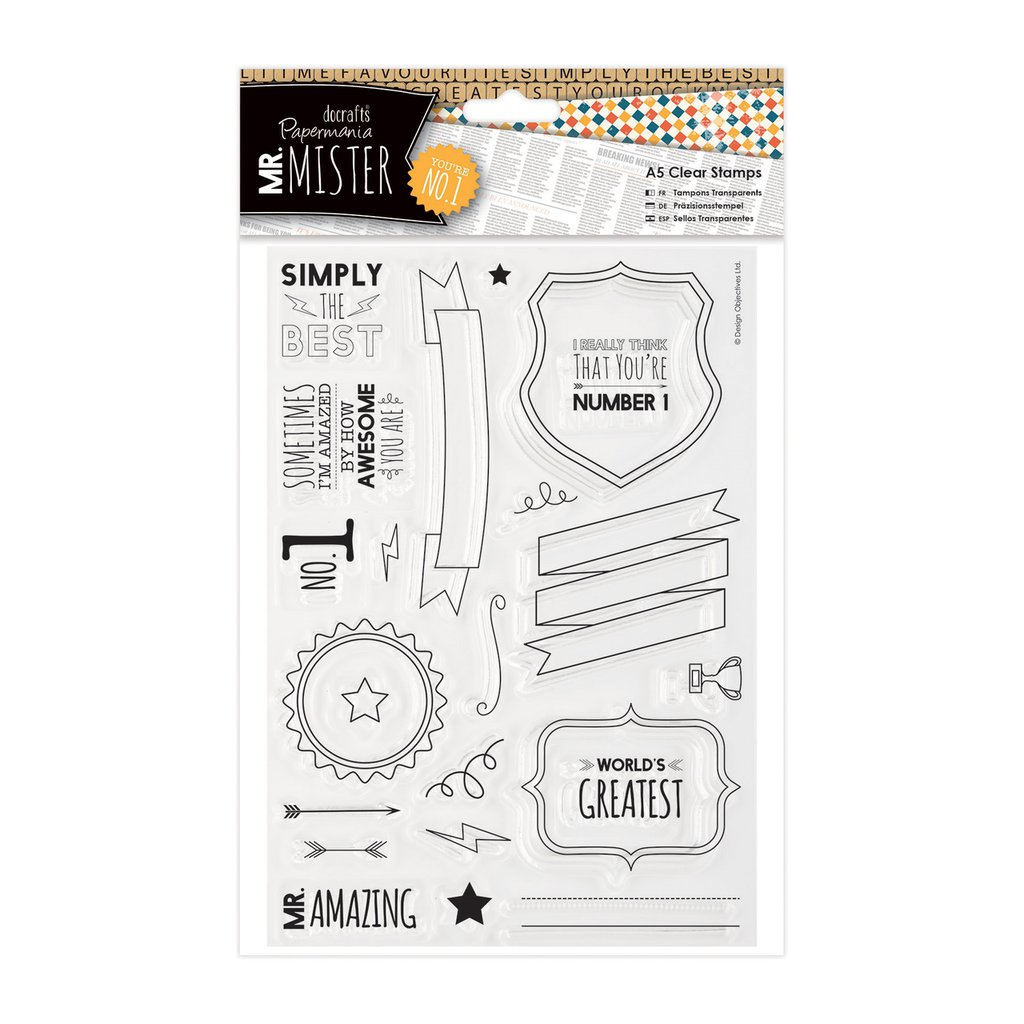 Clear Stamps - Mr Mister Text