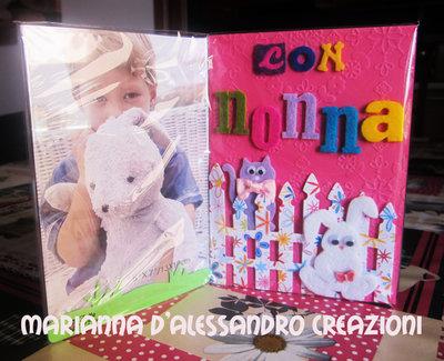 """Portafoto da appoggio """"Con Nonna"""", in plexiglass e feltro"""