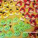 Calamite in feltro Angry Birds fatte a mano per confezionare bomboniere