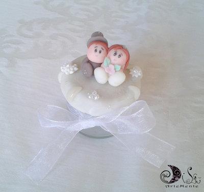 bomboniere matrimonio vasetto miele segnaposto completa