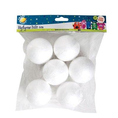 Set 6 sfere di polistirolo - 6 cm