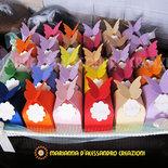 """Scatoline """"Farfalle"""" portaconfetti colorate e con rilievi lotto 10 pz."""