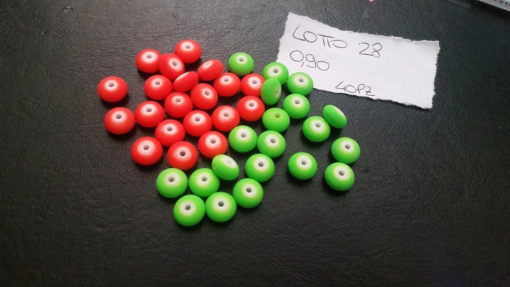 Lotto da 40 perline schiacciate