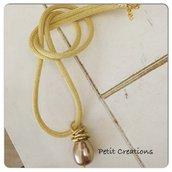 Collana oro e perla