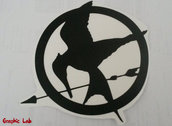 Adesivo Sticker PC Hunger Games Ghiandaia Imitatrice