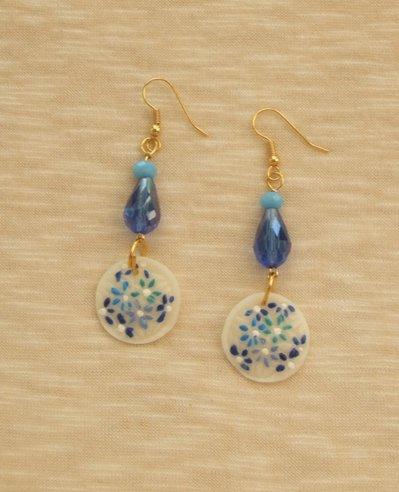 """Orecchini  """"Lilli"""" blu e azzurri"""