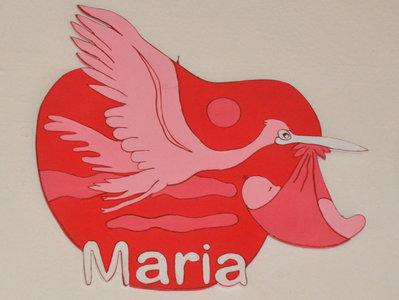 """Fiocco  Cicogna per nascita """" Maria"""""""