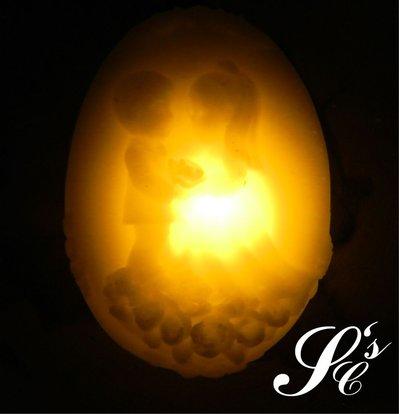Candela in cera con LED - LED026Sposini