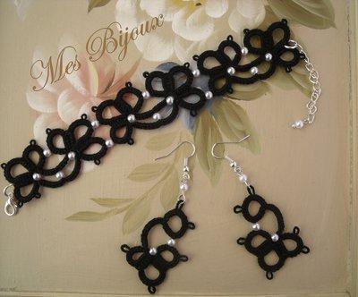 Bracciale e orecchini fiore  moda  chiacchierino idea regalo donna ragazza