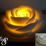 Candela in cera con LED - Rosa