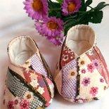 scarpine bebè tessuto giapponese