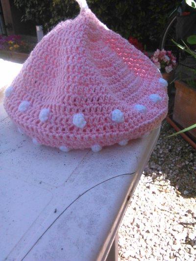 cappellino bimba cotone