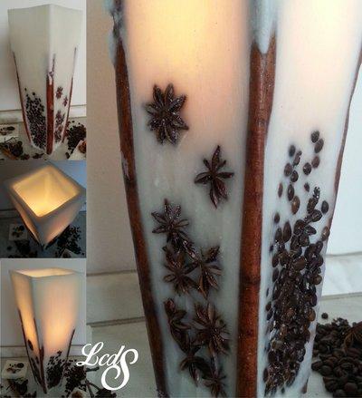 Lanterna artigianale vaso cera - Wax luminary vase