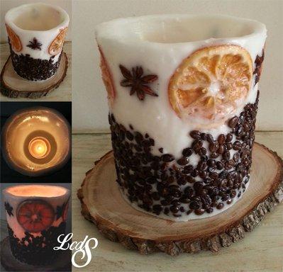 Lanterna in cera - Vintage wax luminary Caffe&Orange