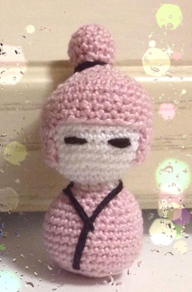Portachiave bambole kokeshi amigurumi