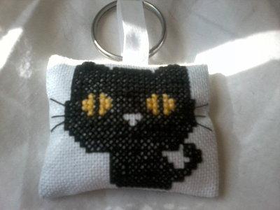 Portachiavi kawaii black cat