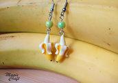 Orecchini Banana in Fimo