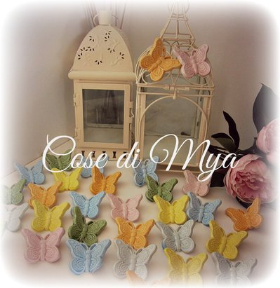 Farfalline in ceramica